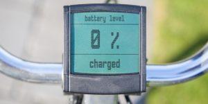 Computer toont lege accu fiets