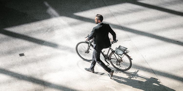 Met de fiets naar werk