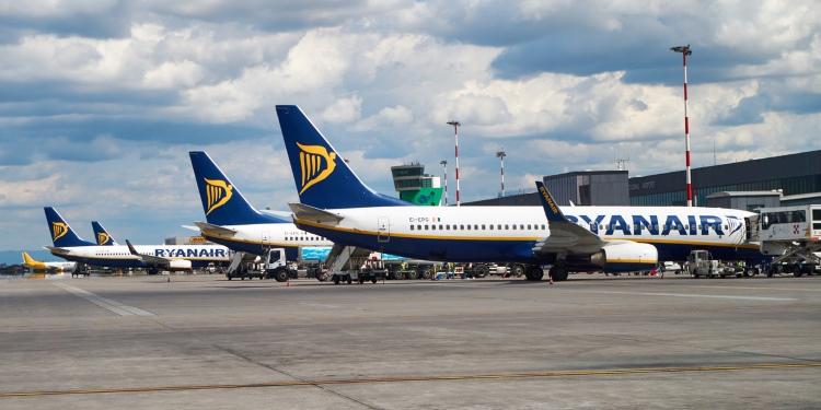 Ryanair vliegtuigen aan de grond na cancellen van vluchten