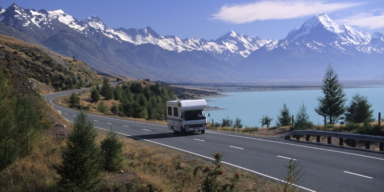 Kamperen in Nieuw-Zeeland; dichtbij Mount Cook en Lake Pukaki