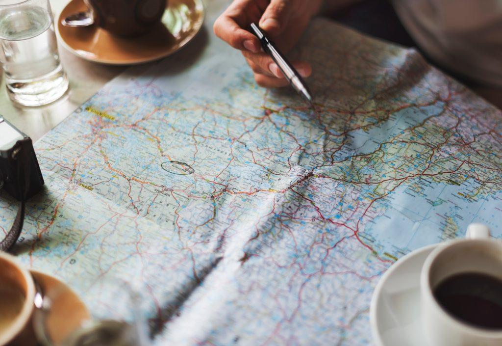 Visum uitdokteren met behulp van landenkaart