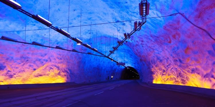 Langste tunnel ter wereld: Laerdaltunnel in Noorwegen