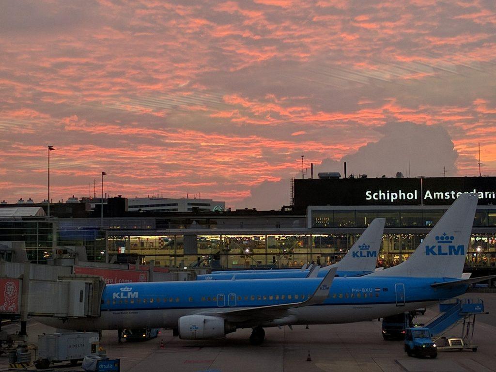 Luchthaven Schiphol nabij Amsterdam