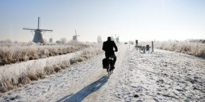 Fietsroutes in de winter