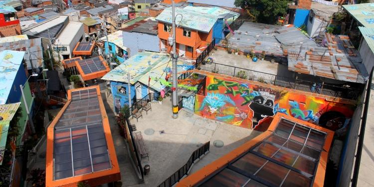 Elektrische roltrap van Medellin