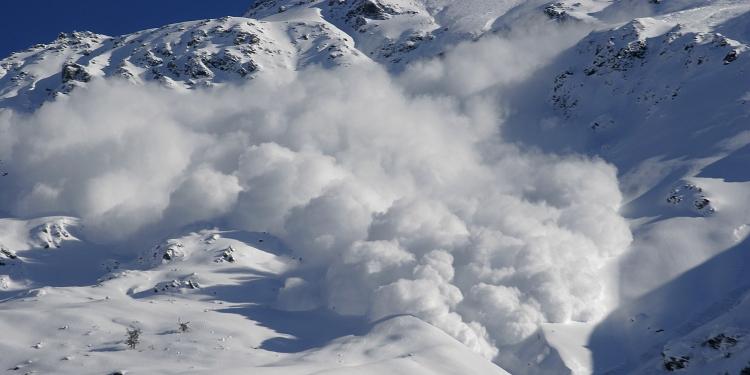 Lawine tijdens de wintersport