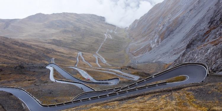 Rijden in de bergen: Stelvio