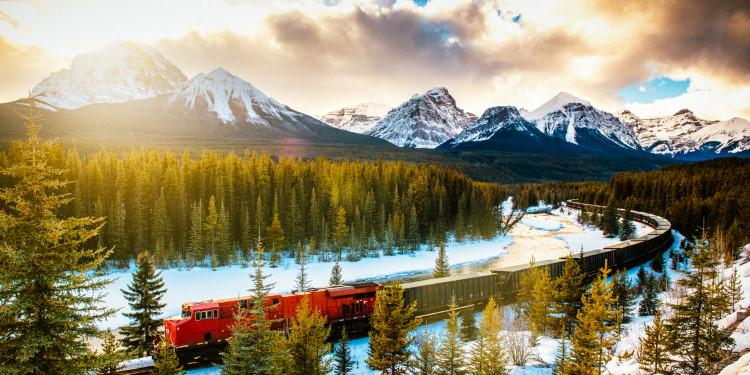 Treinreis in de winter