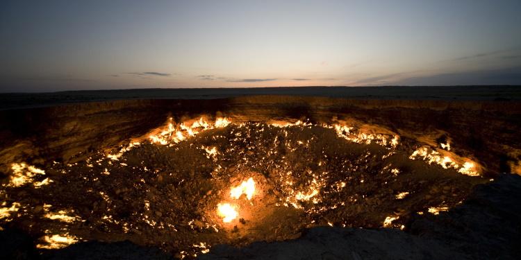 Krater van Derweze, Turkmenistan